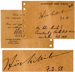 Ho Chi Minh Autograph From 1958 as President of North Vietnam