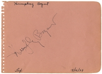 Humphrey Bogart Signature -- With PSA/DNA COA