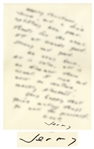 J.D. Salinger Autograph Letter Signed -- ...All is calm, all is no dimmer than usual...