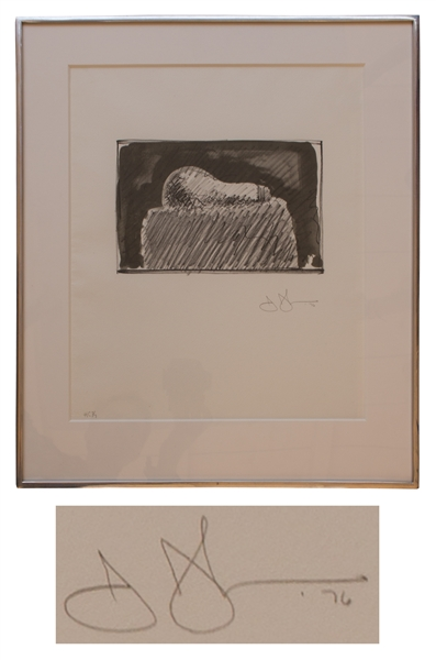 Jasper Johns ''Light Bulb'' Lithograph -- Hors Commerce 3 of 7