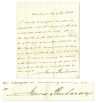 James Buchanan Autograph Letter Signed as President on July 4, 1858 -- Buchanan Vouches for Antebellum Author Louisa McCord as She Travels to Europe