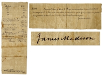James Madison Autograph Document Signed -- The 4th U.S. President Promises to Repay a Loan of $1,000 Near the End of His Life