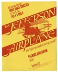 Jefferson Airplane Fillmore Poster by Bill Graham From 1966 -- The First in Grahams Numbered Concert Series -- Near Fine Condition
