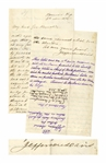 Jefferson Davis Autograph Letter Signed in Response to General William Sherman Calling Him a Conspirator -- ...Shermans speech...which bore the slander...