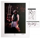 Jimmy Page Signed Limited Edition 16 x 20 Photo -- Holding His Double-Necked Guitar in Concert