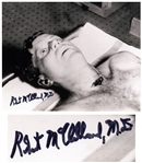 Post-Mortem Photo of John F. Kennedy Signed by Dr. Robert McClelland, Who Treated JFK After He Was Shot