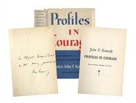 John F. Kennedy Signed Profiles in Courage -- Inscribed to Famed Photographer Alfred Eisenstaedt