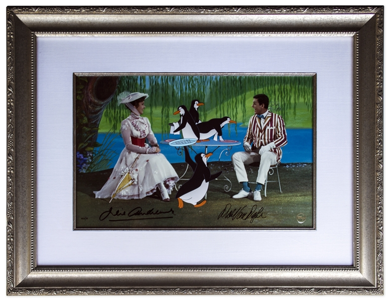 Julie Andrews & Dick Van Dyke Signed Limited Edition ''Mary Poppins'' Artwork by Disney -- Created From Original Disney Animation Drawings -- One of the 15 Very Rare ''HC'' Editions