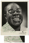 Louis Armstrong Signed 8 x 10 Photo of His Iconic Smile