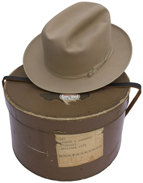 Lyndon B. Johnson's Personally Owned & Worn Stetson Hat -- Quintessential LBJ