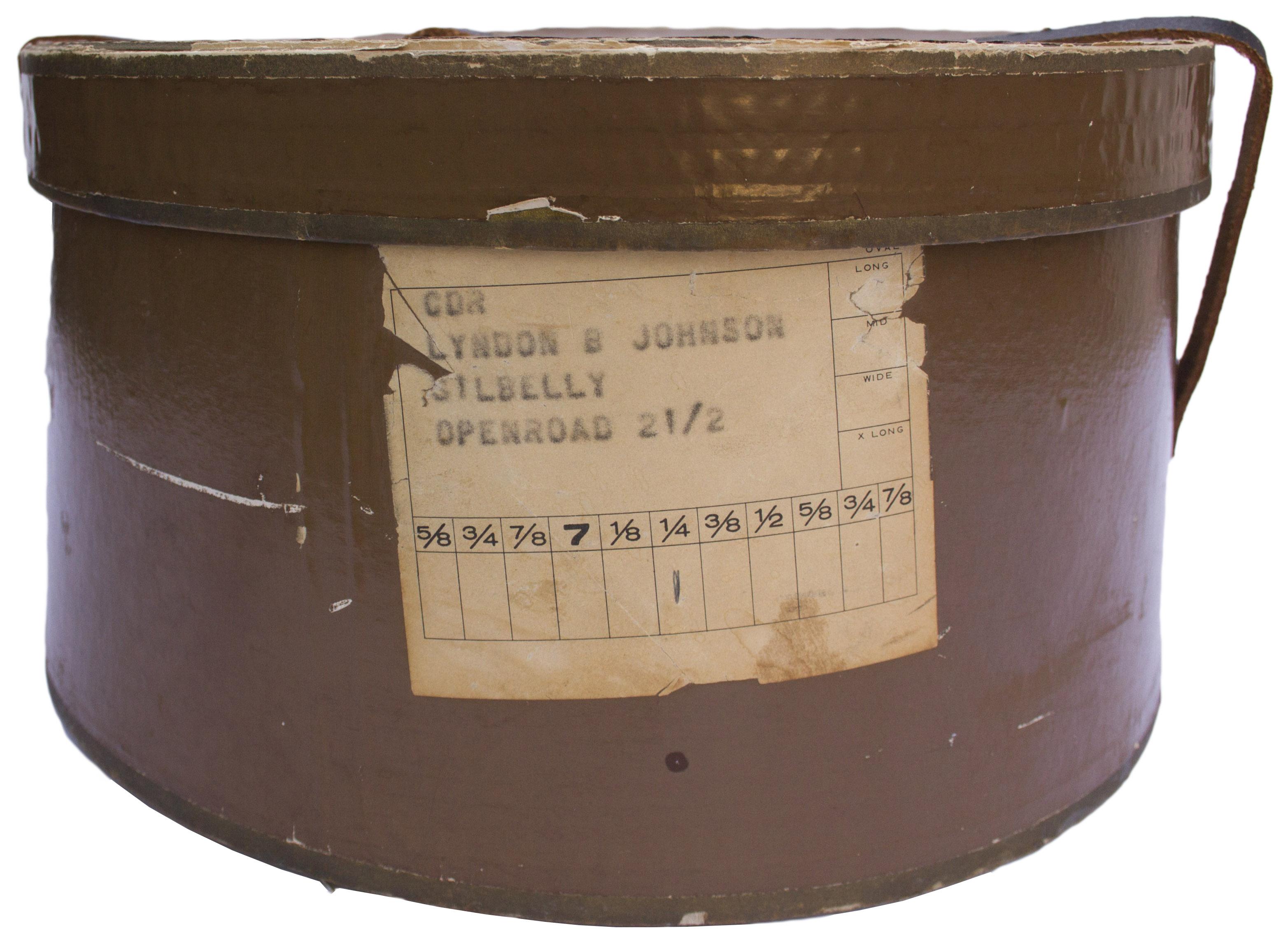 ... Lyndon B. Johnson s Personally Owned   Worn Stetson Hat --  Quintessential LBJ ... 193f6a4f128