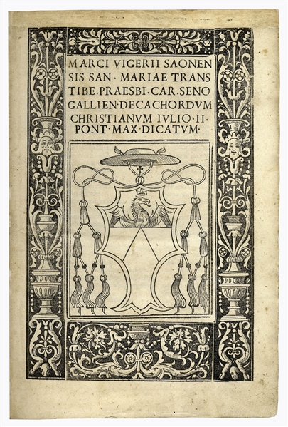 1507 First Edition of ''Decachordum Christianum'' by Cardinal Marcus Vigerius -- With 43 Cuts Presenting the Life of Christ