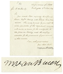 Martin Van Buren Letter Signed as Secretary of State to George M. Dallas