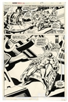 Fantastic Four Original Art by Rick Buckler From 1975 -- Xemu Tries to Enlist Medusa to Turn Against Black Bolt