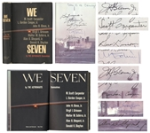 Mercury Seven Astronauts Signed Book, We Seven -- Signed By All Seven Astronauts, Twice by John Glenn -- With Steve Zarelli COA for All Signatures