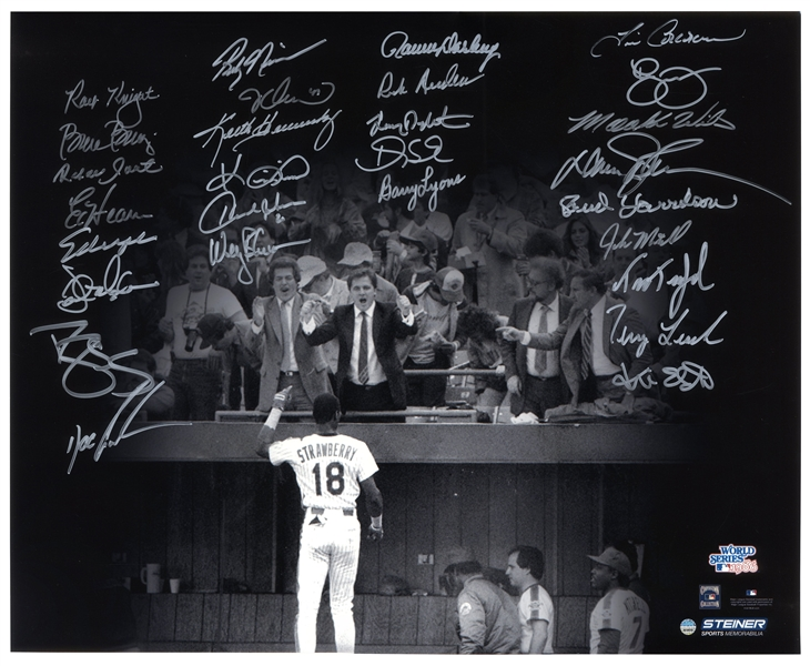 1986 Mets Team-Signed 20'' x 16'' Photo -- With Steiner COA