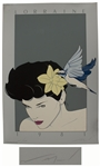 Patrick Nagel Signed Limited Edition Seriagraph of Lorraine From 1981