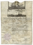 Andrew Jackson Ships Passport Signed as President