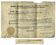 James Monroe Land Grant Signed as President