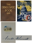 Franklin D. Roosevelt Signed Limited Edition of The Democratic Book 1936 -- Large, Impressive Tome Published for FDRs Re-Election