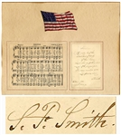Samuel Francis Smith Signed & Handwritten First Stanza of His Beloved Song America