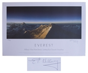 Sir Edmund Hillary Signed Limited Edition Print of Hillarys View From Everest -- Measures 28 x 18