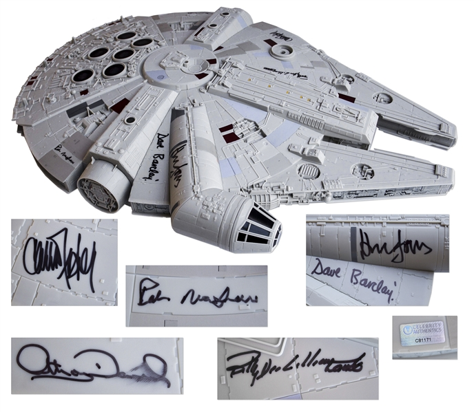 The Millennium Falcon Model Signed by ''The Empire Strikes Back'' Cast Including Han Solo, Princess Leia, Chewbacca and C-3PO