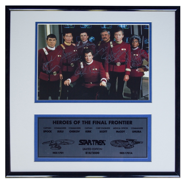 Star Trek Cast Signed Photo -- Limited Edition Signed by All 7 Crew Members of the Starship Enterprise