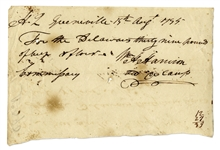 William Henry Harrison Autograph Document Signed From Fort Greenville, Ohio in 1795, Just Days After the Treaty of Greenville