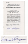 William Rehnquist Signed Supreme Court Decision of Schneble vs. Florida -- Justice Rehnquists First Opinion in 1972