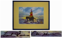 Disney Limited Edition Sericel of Winnie the Pooh, Piglet & Eeyore -- Signed by Legendary Disney Animators Frank Thomas and Ollie Johnston