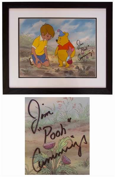 Disney Limited Edition Sericel of ''Two Hero Party'' From ''Winnie the Pooh & the Blustery Day'' -- Signed by the Actor Who Voiced Winnie the Pooh