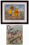 Disney Limited Edition Sericel of Two Hero Party From Winnie the Pooh & the Blustery Day -- Signed by the Actor Who Voiced Winnie the Pooh