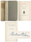 Woodrow Wilson Signed History of the American People -- Limited Edition for Princeton Alumni