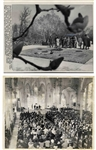 Two Original 10 x 8 Press Photos -- Mass Honoring John F. Kennedys Funeral and His Gravesite