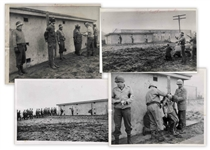 Four WWII Photographs Showing the Execution of German Spies