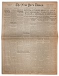 28 September 1939 Edition of The New York Times -- Warsaw Surrenders to Germans