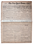 22 August 1945 Edition of The New York Times -- Japanese Occupation Begins