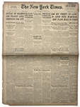24 August 1945 Edition of New York Times -- 7,500 Sky Troops to Land in Japan with MArthur