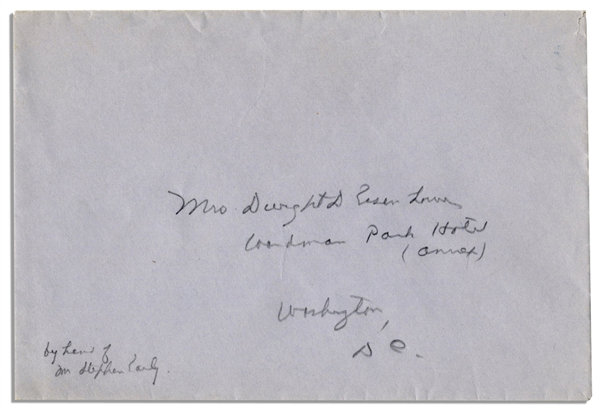 General Dwight Eisenhower WWII Autograph Letter Signed to His Wife, Mamie From London -- ''...we never have a dull moment...but mornings & nights are lonely...''