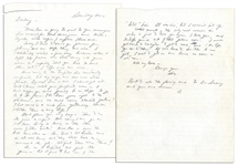 General Dwight Eisenhower Autograph Letter Signed to His Wife, Mamie -- ...the only real reason Im writing is just to tell you again I love you...