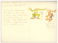 Jim Henson Early Muppets Character Sketch -- Depicting Notes for a Muppets Dance Number Featuring The Boss Men in One of Their First Television Debuts