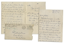 WWII Hero Rene Gagnon Autograph Letter Signed -- ...about my furlough...just think of it in five more weeks exactly well be together again...