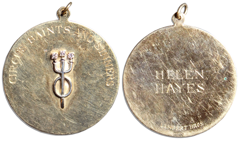 Helen Hayes' Medal, Made of Diamonds & 14k Gold