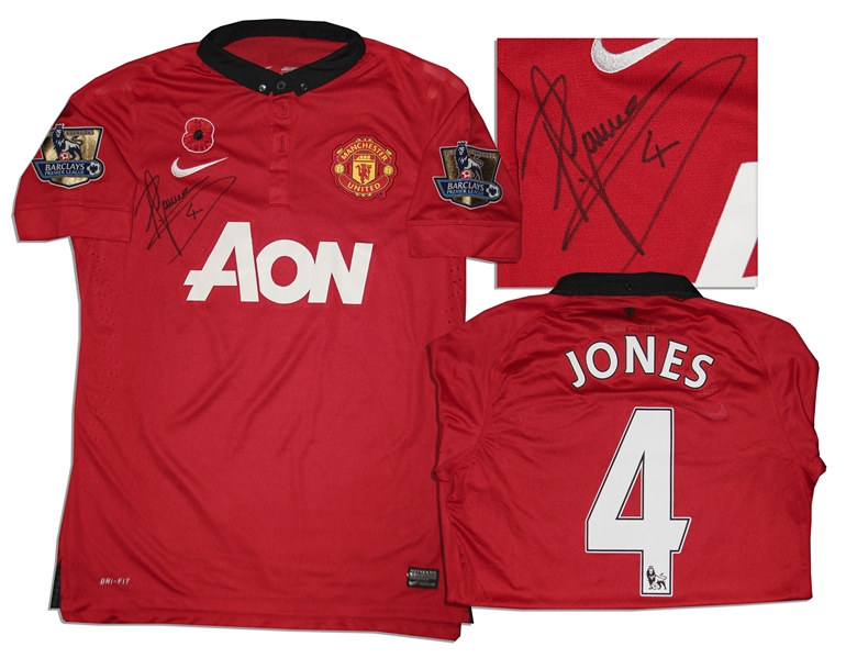 Phil Jones Signed Match-Worn Shirt From Manchester United