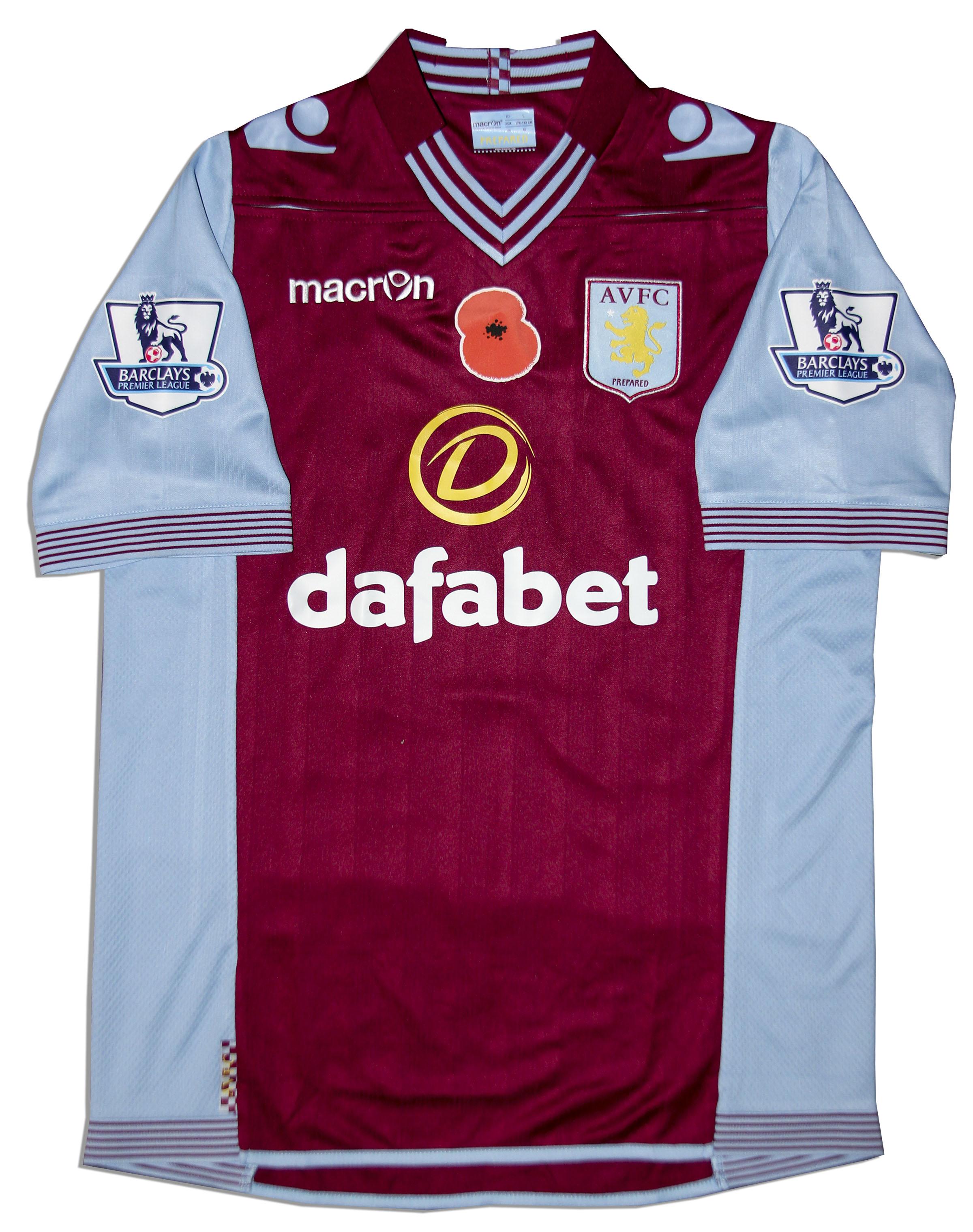 Item Detail - Aston Villa Jersey Worn & Signed By Matthew ...