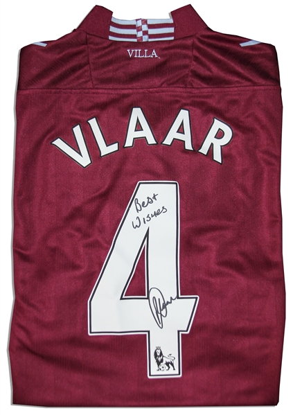 Aston Villa Jersey Worn & Signed By Ron Vlaar, #4
