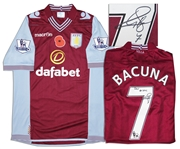 Aston Villa Jersey Worn & Signed By Leandro Bacuna, #7