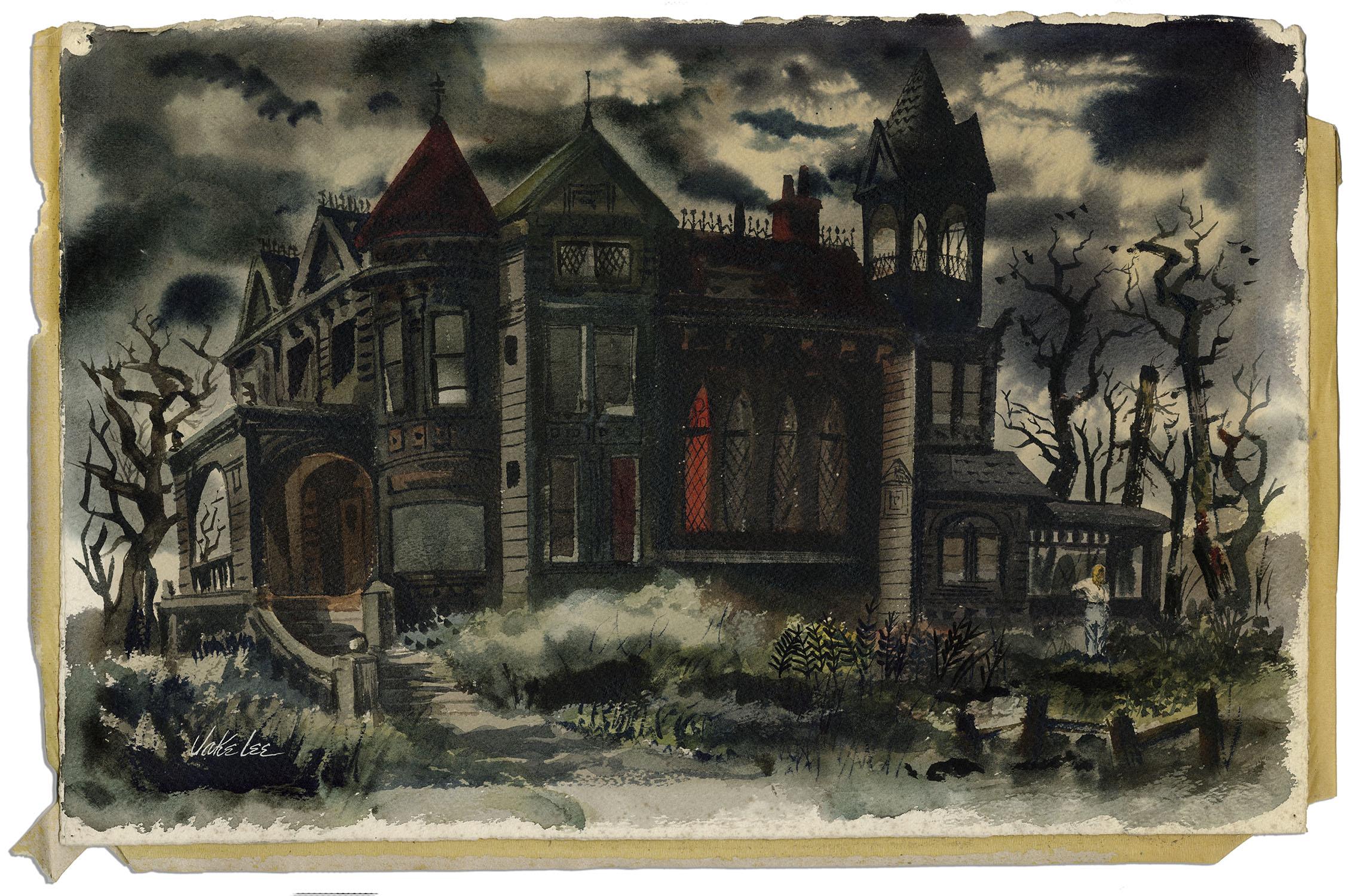 Ray Bradbury And Dark Side Of American >> Item Detail Ray Bradbury Personally Owned Watercolor Painting By