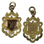 19th Century Football Gold Medal From Aston Villas Win at the 1894-95 Birmingham and District Football League Championship
